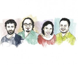 Cronistas - Ilustración: Pablo Farías - Revista Paula