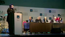 Cristian Alarcón, Paul Auster y J.M. Coetzee - Foto: Anfibia